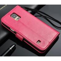Чехол портмоне подставка с защелкой для Samsung Galaxy Note 4 Пурпурный