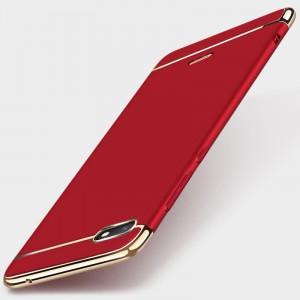 Двухкомпонентный пластиковый непрозрачный матовый сборный чехол для Xiaomi RedMi 6A Красный