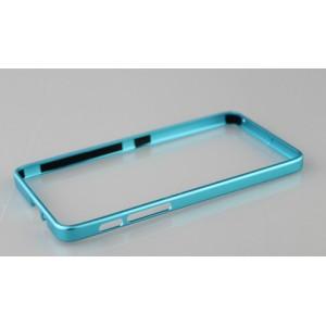 Металлический бампер для Lenovo S850 Голубой