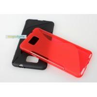 Силиконовый S чехол для Samsung Galaxy Alpha Красный