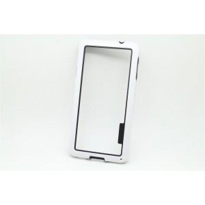 Силиконовый бампер для Samsung Galaxy Alpha Белый