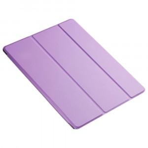 Сегментарный чехол книжка подставка на транспарентной поликарбонатной основе для Ipad Pro 10.5 Пурпурный