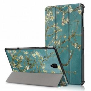 Сегментарный чехол книжка подставка на непрозрачной поликарбонатной основе с полноповерхностным принтом для Samsung Galaxy Tab S4