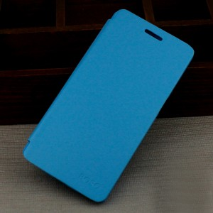 Тонкий чехол флип на пластиковой основе для Lenovo A536 Голубой