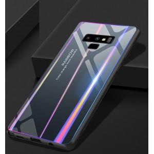 Силиконовый глянцевый градиентный непрозрачный чехол со стеклянной крышкой для Samsung Galaxy Note 9