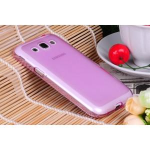 Силиконовый матовый полупрозрачный чехол для Samsung Galaxy Core Розовый