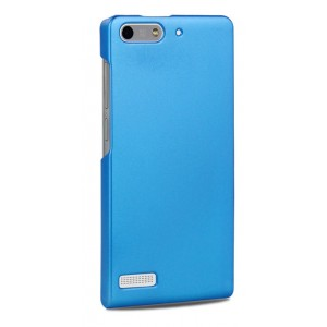 Пластиковый чехол серия Metallic для Huawei Ascend G6 Голубой