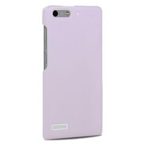 Пластиковый чехол серия Metallic для Huawei Ascend G6 Белый