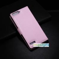 Чехол портмоне подставка с защелкой для Huawei Ascend G6 Розовый