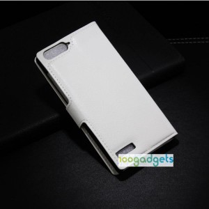 Чехол портмоне подставка с защелкой для Huawei Ascend G6 Белый