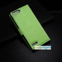 Чехол портмоне подставка с защелкой для Huawei Ascend G6 Зеленый