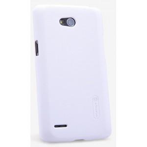 Пластиковый матовый нескользящий премиум чехол для LG L80