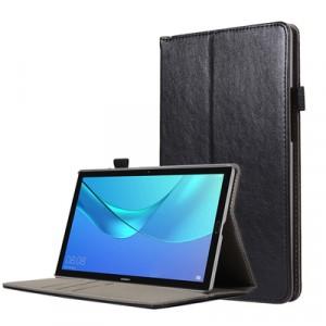 Глянцевый сегментарный чехол книжка подставка с крепежом для стилуса, отсеком для карт и поддержкой кисти для Huawei MediaPad M5 10.8
