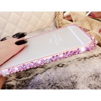 Металлический бампер с аппликацией стразами ручной работы для Iphone 6 Plus
