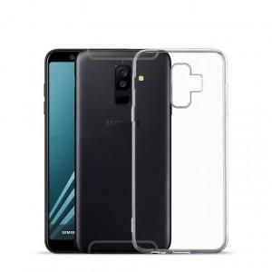Силиконовый глянцевый транспарентный чехол для Samsung Galaxy A6