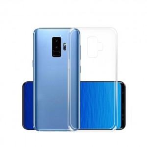 Силиконовый глянцевый транспарентный чехол для Samsung Galaxy S9 Plus