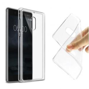 Силиконовый глянцевый транспарентный чехол для Nokia 6