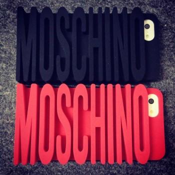 Силиконовый дизайнерский фигурный чехол серия Moschino для Iphone 6 Plus