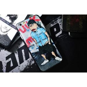 Пластиковый дизайнерский чехол повышенной шероховатости с принтом для Iphone 6