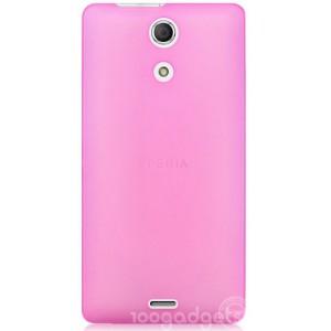 Ультратонкий пластиковый чехол для Sony Xperia ZR Розовый