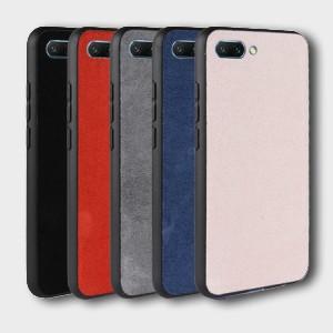 Силиконовый матовый непрозрачный чехол с текстурным покрытием Ткань для Huawei Honor 10