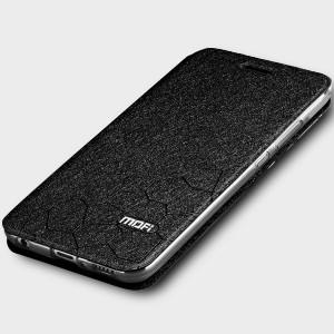 Чехол горизонтальная книжка подставка текстура Соты на силиконовой основе для Huawei Honor 10 Черный
