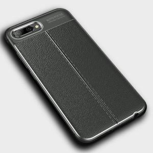 Чехол накладка текстурная отделка Кожа для смартфонов Huawei Honor 10 Серый