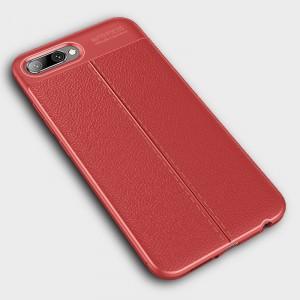 Чехол накладка текстурная отделка Кожа для смартфонов Huawei Honor 10 Красный