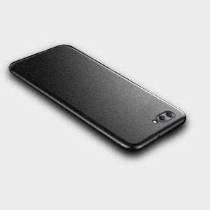 Пластиковый непрозрачный матовый металлик чехол с повышенной шероховатостью для Huawei Honor 10 Черный