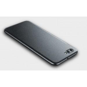 Пластиковый непрозрачный матовый металлик чехол с повышенной шероховатостью для Huawei Honor 10 Серый