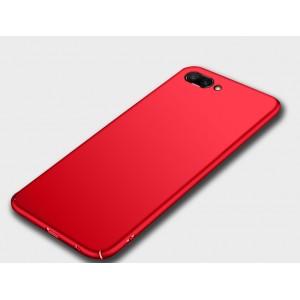 Пластиковый непрозрачный матовый чехол для Huawei Honor 10 Красный