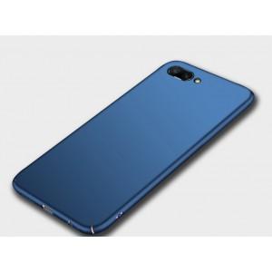 Пластиковый непрозрачный матовый чехол для Huawei Honor 10 Синий