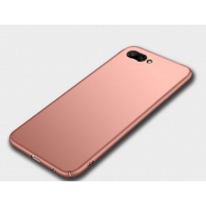 Пластиковый непрозрачный матовый чехол для Huawei Honor 10 Розовый