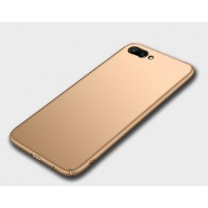 Пластиковый непрозрачный матовый чехол для Huawei Honor 10 Бежевый