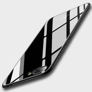 Силиконовый глянцевый непрозрачный чехол с поликарбонатным покрытием для Huawei Honor 10
