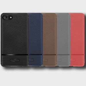 Силиконовый матовый непрозрачный чехол с текстурным покрытием Кожа для Huawei Honor 10