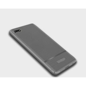 Силиконовый матовый непрозрачный чехол с текстурным покрытием Кожа для Huawei Honor 10 Белый