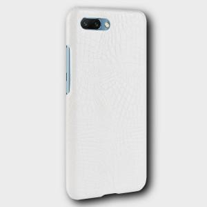 Чехол накладка текстурная отделка Кожа для Huawei Honor 10 Белый
