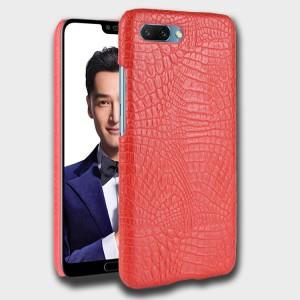 Чехол накладка текстурная отделка Кожа для Huawei Honor 10 Красный