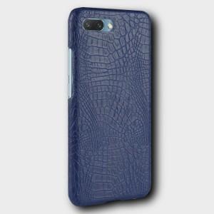Чехол накладка текстурная отделка Кожа для Huawei Honor 10 Синий