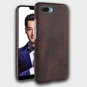Пластиковый непрозрачный матовый чехол с текстурным покрытием Дерево для Huawei Honor 10 Коричневый