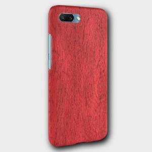 Пластиковый непрозрачный матовый чехол с текстурным покрытием Дерево для Huawei Honor 10 Красный