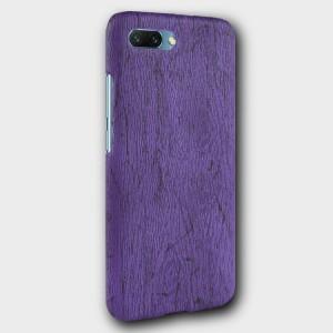 Пластиковый непрозрачный матовый чехол с текстурным покрытием Дерево для Huawei Honor 10 Фиолетовый