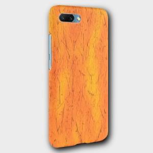 Пластиковый непрозрачный матовый чехол с текстурным покрытием Дерево для Huawei Honor 10 Оранжевый