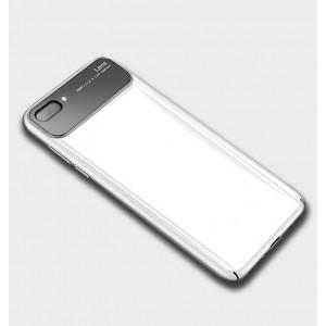 Пластиковый глянцевый непрозрачный чехол для Huawei Honor 10 Белый