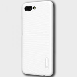 Пластиковый непрозрачный матовый нескользящий премиум чехол с повышенной шероховатостью для Huawei Honor 10 Белый
