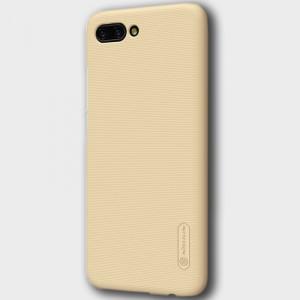 Пластиковый непрозрачный матовый нескользящий премиум чехол с повышенной шероховатостью для Huawei Honor 10 Бежевый
