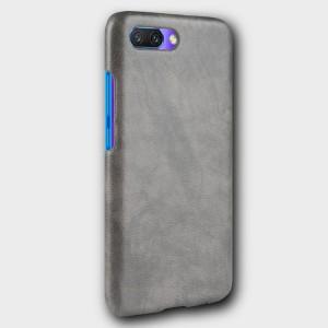 Чехол накладка текстурная отделка Кожа для Huawei Honor 10 Серый