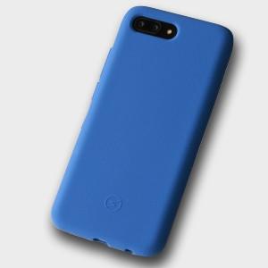 Силиконовый матовый непрозрачный чехол с нескользящим софт-тач покрытием для Huawei Honor 10 Синий