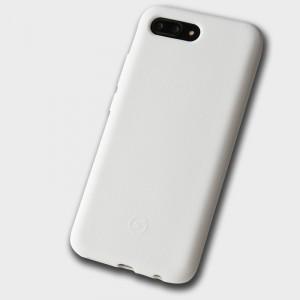 Силиконовый матовый непрозрачный чехол с нескользящим софт-тач покрытием для Huawei Honor 10 Белый